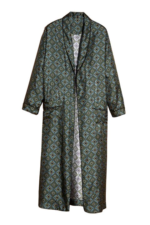 "<p> Burberry Geometric Tile Print Silk Twill Dressing Gown Coat, $1,995; <a href=""https://us.burberry.com/geometric-tile-print-silk-twill-dressing-gown-coat-p45454841?search=true"">burberry.com</a></p><p><span class=""redactor-invisible-space"" data-verified=""redactor"" data-redactor-tag=""span"" data-redactor-class=""redactor-invisible-space""></span></p>"