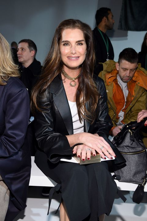 Brooke Shield in prima fila da Calvin Klein