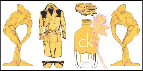 Il profumo Ck One Gold nell'artwork by Alessio Nesi
