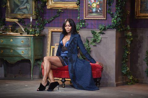 Naomi Campbell da La Perla alla New York Fashion Week