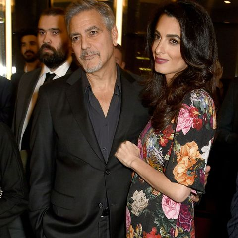 """<p>After <a href=""""http://www.redbookmag.com/body/pregnancy-fertility/news/a48364/amal-clooney-baby-bump-photos/"""" target=""""_blank"""" data-tracking-id=""""recirc-text-link"""">rumors</a> circulated in late January, <em data-redactor-tag=""""em"""" data-verified=""""redactor"""">The Talk&nbsp;</em><span>host Julie Chen <a href=""""http://www.redbookmag.com/body/pregnancy-fertility/news/a48637/amal-clooney-is-pregnant-with-twins/"""" target=""""_blank"""" data-tracking-id=""""recirc-text-link"""">confirmed</a> that the couple is expecting twins on February 9. Amal is due in June.&nbsp;</span></p>"""