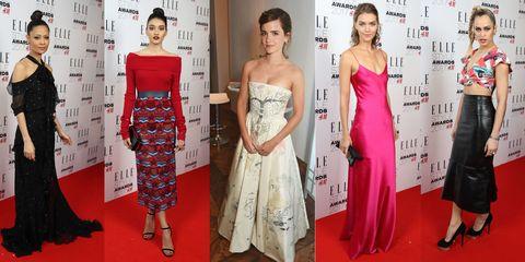 red carpet celebrity elle style awards 2017