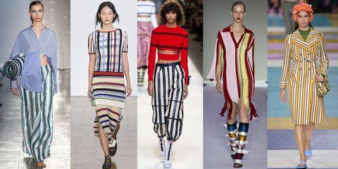 moda primavera estate 2017, tendenza fantasia righe