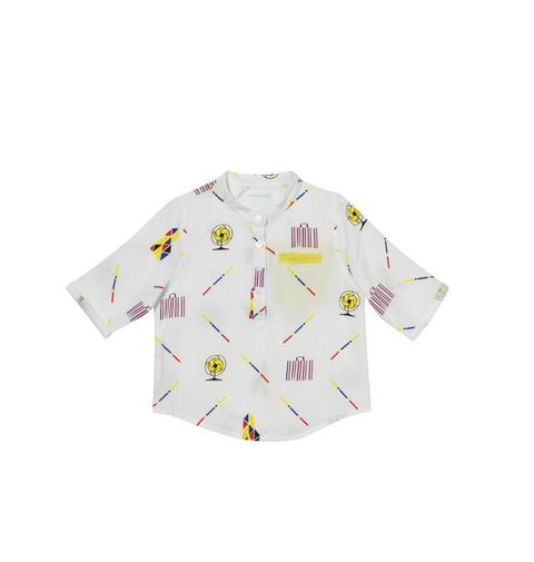 Clothing, White, Sleeve, T-shirt, Yellow, Pink, Shirt, Outerwear, Collar, Top,