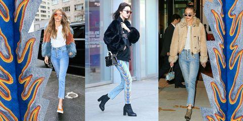 Gigi Hadid Bella Hadid jeans