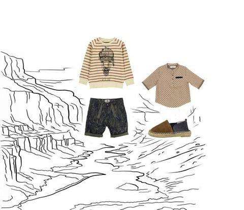 Illustration, Fashion illustration, T-shirt, Sketch, Pattern, Drawing, Fictional character, Art,