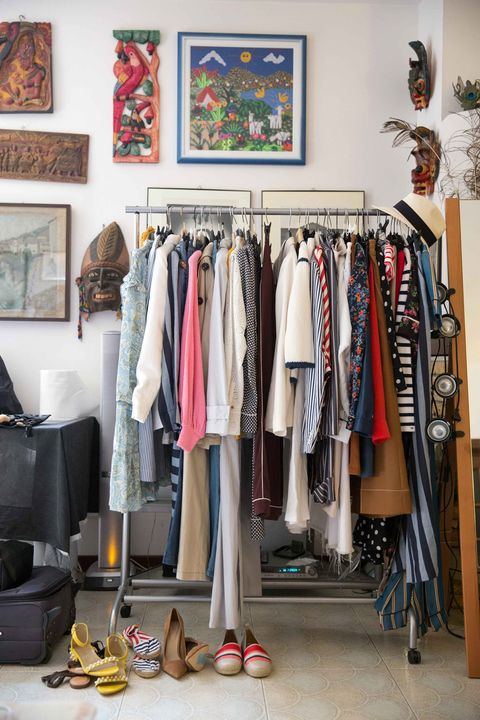 Room, Boutique, Closet, Shelf, Clothes hanger, Furniture, Collection, Wardrobe, Shelving, Outlet store,