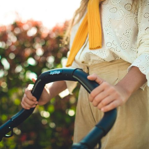 Product, Hand, Grass, Tree, Plant, Outdoor power equipment, Branch, Wrist, Bicycle handlebar, Child,