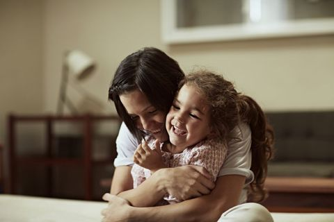 Photograph, Facial expression, People, Child, Smile, Happy, Interaction, Hug, Fun, Birth,