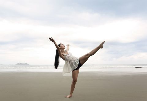 Athletic dance move, Sky, Happy, Fun, Jumping, Ballet, Ballet dancer, Photography, Sea, Physical fitness,