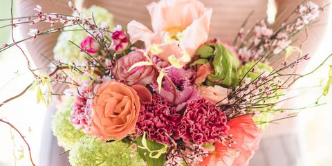Petal, Bouquet, Flower, Cut flowers, Floristry, Pink, Flowering plant, Flower Arranging, Rose family, Peach,