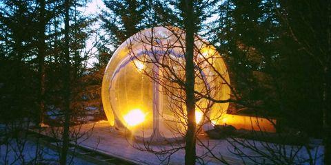 Hotel in Islanda a forma di bolla