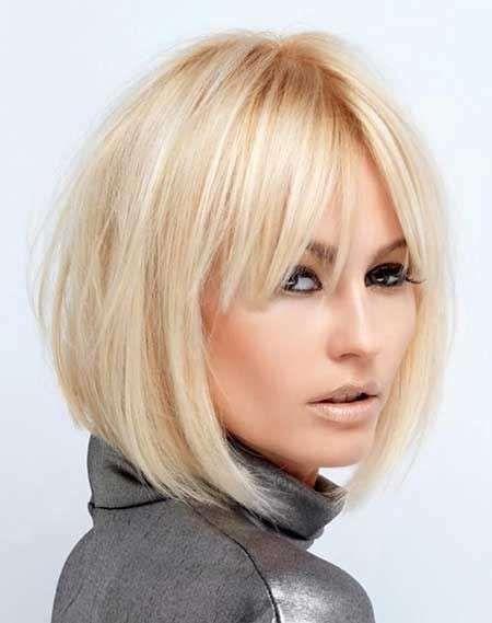 Taglio capelli corti dietro lunghi davanti con frangia