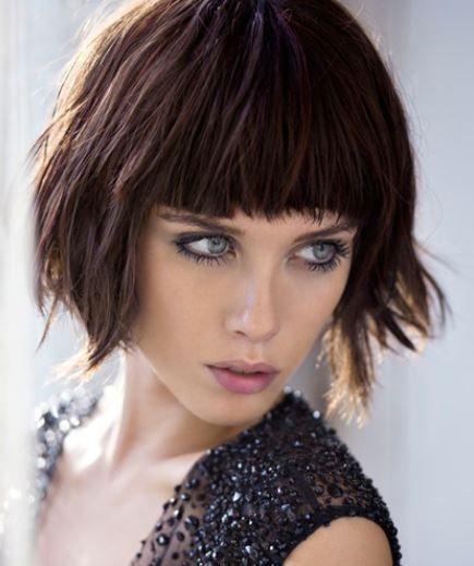 Tagli di capelli con frangia cortissima
