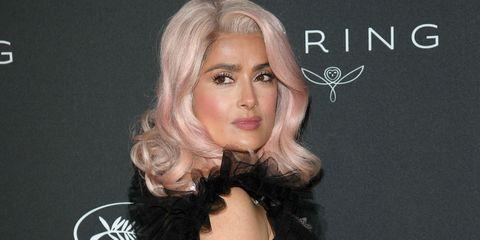 Salma Hayek e i capelli rosa