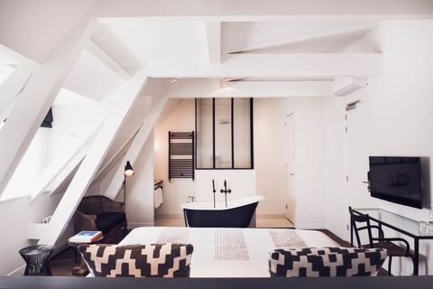 White, Room, Interior design, Property, Black-and-white, Furniture, House, Building, Ceiling, Living room,