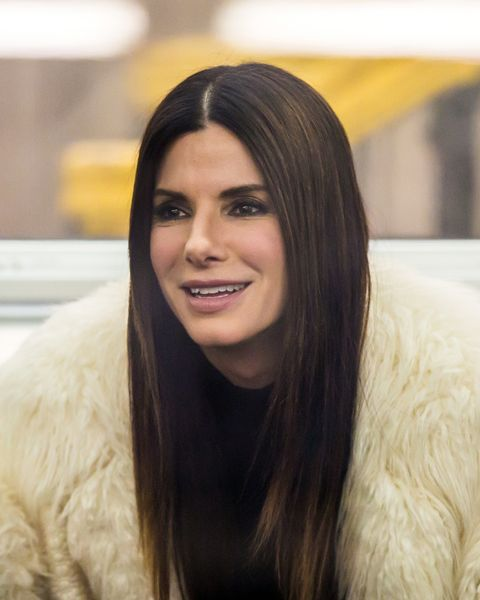 """NEW YORK, NY - DECEMBER 03:  Sandra Bullock is seen on location for """"Ocean's Eight""""s 8' on December 3, 2016 in New York City.  (Photo by Alessio Botticelli/FilmMagic)"""