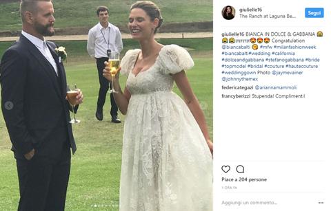 Abiti Da Sposa Dolce E Gabbana.Bianca Balti Sposa Ecco Il Vestito Da Sposa Che Sta Facendo