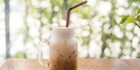 Iced coffee, Drink, Mason jar, Milkshake, Frappé coffee, Milk punch, Food, Smoothie, Health shake, Vietnamese iced coffee,