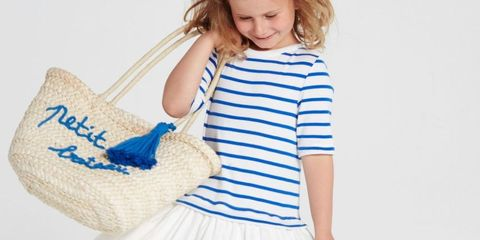 White, Blue, Clothing, Shoulder, Child, Fashion, Footwear, Joint, Child model, Leg,