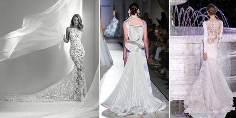 6e6942b277ee Sulle passerelle degli abiti da sposa sfilano magnifiche creazioni  impreziosite da lunghi e scenografici strascichi. Parole d ordine per il  prossimo 2018