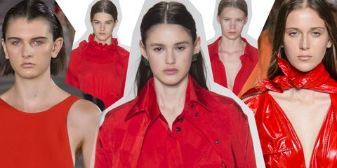 Hair, Red, Fashion, Hairstyle, Beauty, Lip, Fashion model, Model, Outerwear, Fashion design,