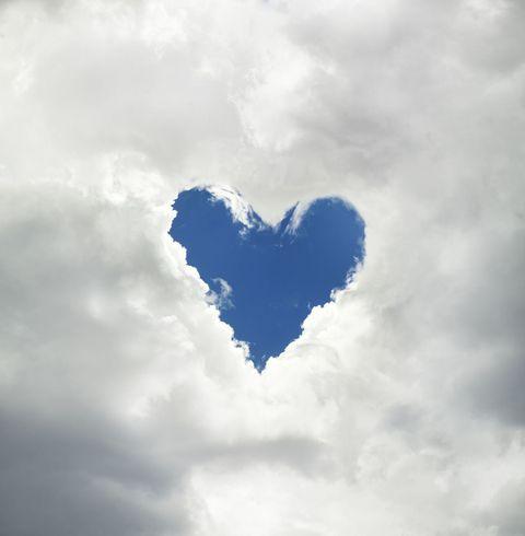 Sky, Cloud, Heart, Blue, Daytime, Love, Cumulus, Atmosphere, Meteorological phenomenon, World,