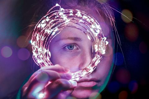 Water, Purple, Blue, Light, Pink, Human, Photography, Space, Magenta, Liquid bubble,