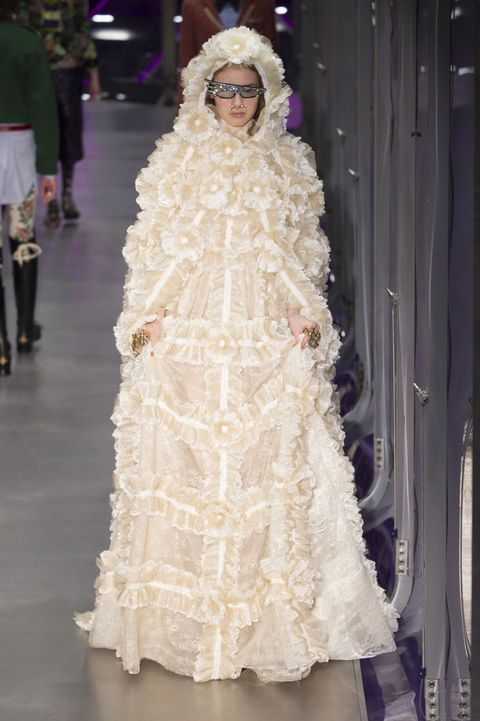 Fashion, Dress, Clothing, Haute couture, Wedding dress, Shoulder, Gown, Bridal accessory, Fashion model, Fashion design,