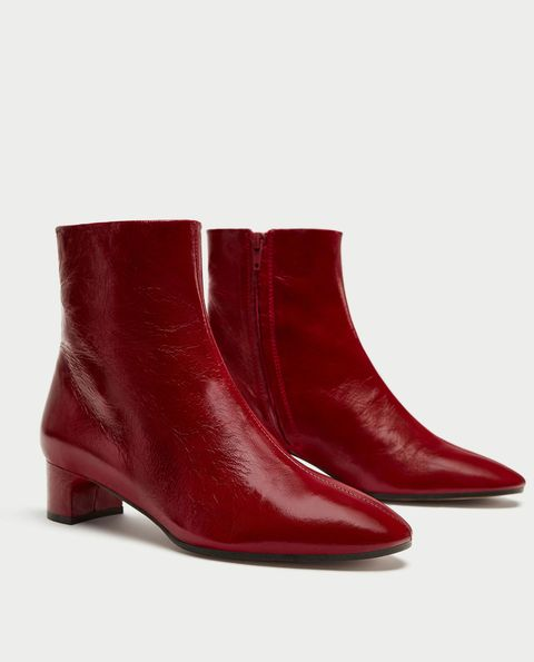 Footwear, Shoe, Red, Boot, Brown, Leather, Durango boot, High heels,