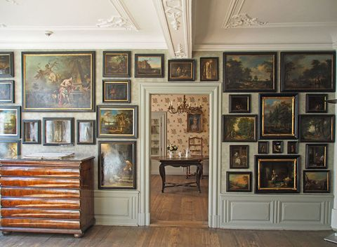 Collection, Building, Art gallery, Wall, Museum, Room, Interior design, Tourist attraction, Furniture, Art,