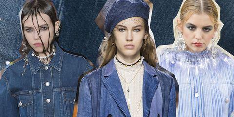Face, Denim, Fashion, Jeans, Head, Hairstyle, Headpiece, Lip, Textile, Headgear,