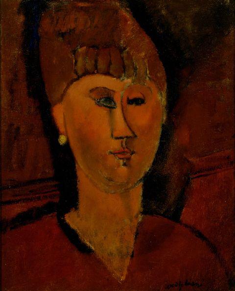 Portrait, Art, Painting, Chin, Visual arts, Cheek, Self-portrait, Acrylic paint, Neck,