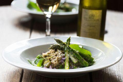 Food, Cuisine, Dish, Ingredient, Produce, Vegetable, Vegetarian food, Risotto, Recipe, Asparagus,