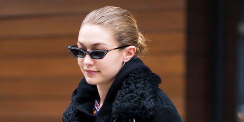 Eyewear, Hair, Sunglasses, Street fashion, Hairstyle, Glasses, Blond, Beauty, Lip, Fashion,