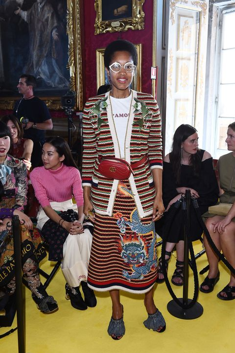 FLORENCE, ITALY - MAY 29: Tamu McPherson attends the Gucci Cruise 2018 fashion show at Palazzo Pitti on May 29, 2017 in Florence, Italy.  (Photo by Stefania D'Alessandro/Getty Images for Gucci)
