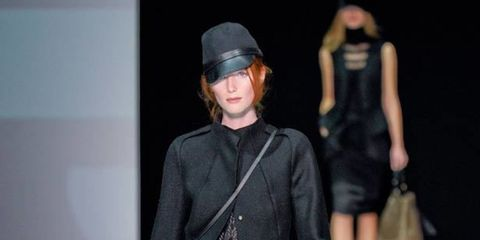 <p>Its black-clad protagonist travelled through time picking up references from great clubs and famous hotels. Just the type of trip ELLE loves.</p><p> </p><p>The result was an elegant selection of sleek jumpsuits, sweeping floor length coats and collarle