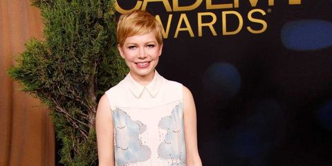 <p>Michelle Williams in a Victoria by Victoria Beckham dress at a pre-Oscars luncheon on 6 February.</p>