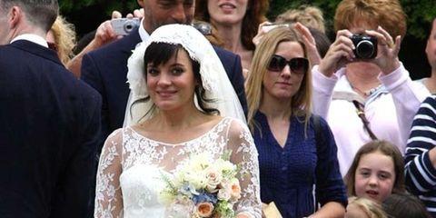 18262e93b4ea Blooming bride Lily Allen has a wedding-day surprise