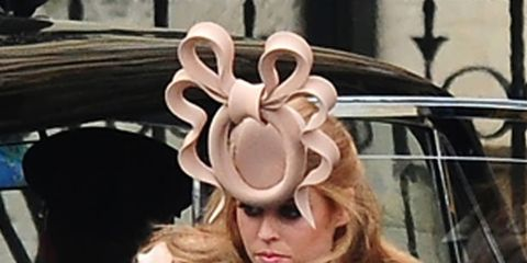 <p>Princess Beatrice at the Royal Wedding</p>