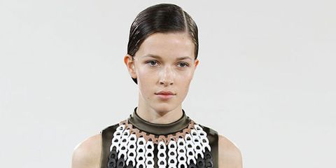 <p>With just one full women's collection under his belt Jonathan has already found his signature style - a very British take on androgyny with great tailoring and hints of school uniform. For spring he's blended it with a navajo vibe - not an obvious comb