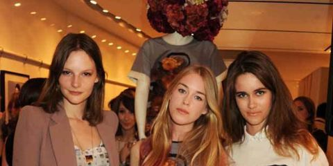 <p>Sara Blomkvist, Mary Charteris and Sunday Girl at the Mother of Pearl party</p>
