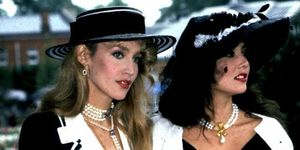 <p>A vintage image of Jerry Hall and Marie Helvin</p>