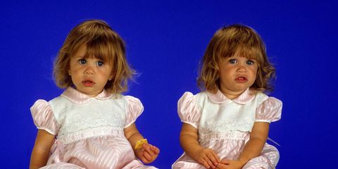 The Olsen twins in Full House during the late 80s