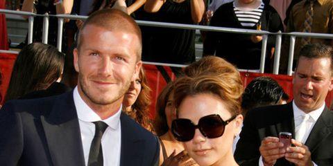 <p>David and Victoria Beckham</p>