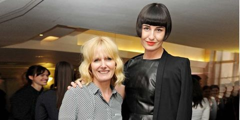 <p>Jane Shepherdson and Erin O'Connor at the Whistles and Penguin event</p>
