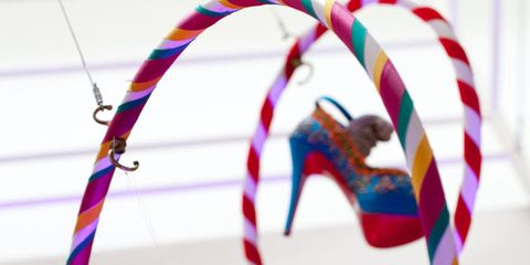 <p>Christian Louboutin shoes on show at the Design Museum</p>