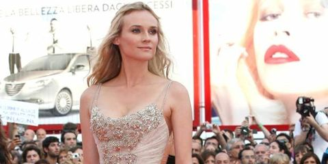 <p>Diane Kruger in Elie Saab on the red carpet</p>
