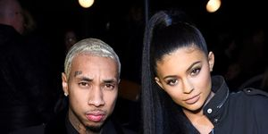 Tyga and Kylie Jenner at the Alexander Wang show in New York, February 2016.