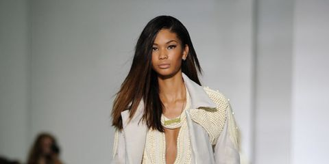 <p>A look from the Kanye West show.</p>